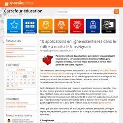 10 applications en ligne essentielles dans le coffre à outils de l'enseignant