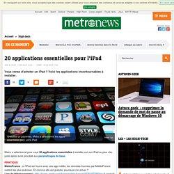 20 applications essentielles pour l'iPad