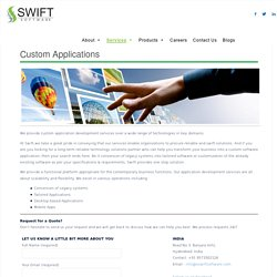 Custom Software Development Services, Custom Application Development