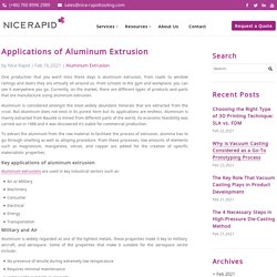 Applications of Aluminum Extrusion