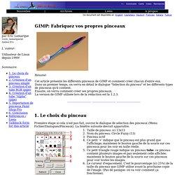 lf314, Applications: GIMP: Fabriquez vos propres pinceaux