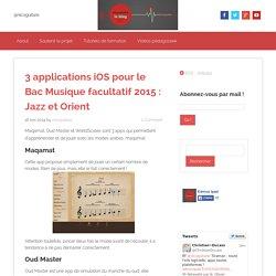 3 applications iOS pour le Bac Musique facultatif 2015 : Jazz et Orient - EdmusiPad.fr
