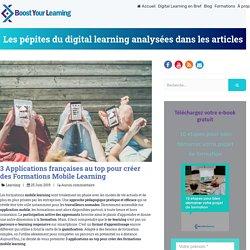 3 Applications au top pour créer des Formations Mobile Learning