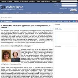 B. Bihorel et O. Jomat : Des applications pour un français mobile et continué ?