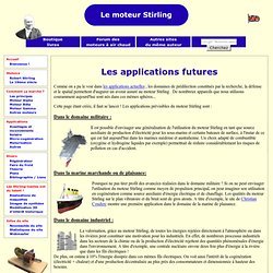 Les applications futures du moteur Stirling