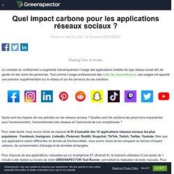 Quel impact carbone pour les applications réseaux sociaux ? - GREENSPECTOR