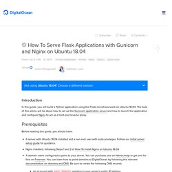 How To Serve Flask Applications with Gunicorn and Nginx on Ubuntu