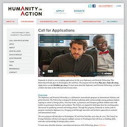 Call for Applications | Humanity in Action
