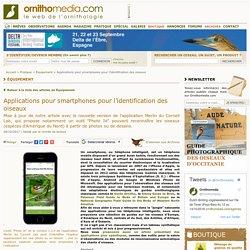 Applications pour smartphones pour l'identification des oiseaux