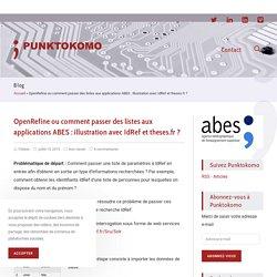 OpenRefine ou comment passer des listes aux applications ABES : illustration avec IdRef et theses.fr ? - PUNKTOKOMO