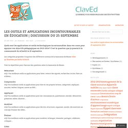 Les outils et applications incontournables en éducation