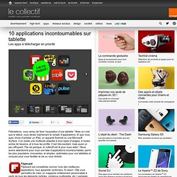 10 applications incontournables sur tablette