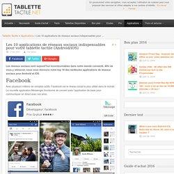 Les 10 applications de réseaux sociaux indispensables pour votre tablette tactile (Android/iOS)