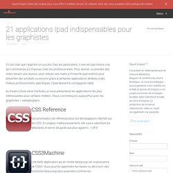 21 applications Ipad indispensables pour les graphistes