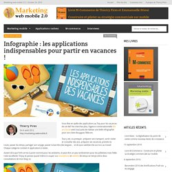 Infographie : les applications indispensables pour partir en vacances !