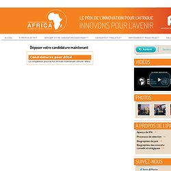 Call for Applications : Innovation Prize for Africa