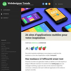 26 sites d'applications mobiles pour votre inspiration