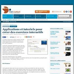 Applications et tutoriels pour créer des exercices interactifs