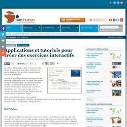 applications et tutoriels recensés par THOT