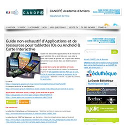 Applications et ressources pour tablettes IPad ou Android & Carte interactive