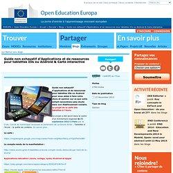 Guide non exhaustif d'Applications et de ressources pour tablettes IOs ou Android & Carte interactive