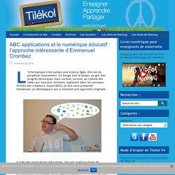 ABC applications et le numérique éducatif : l'approche intéressante d'Emmanuel Crombez