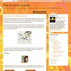 iPad de Mme Arianne: Applications d'histoires interractive