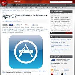 Apple : 400 000 applications invisibles sur l'App Store ?