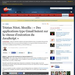 Tristan Nitot, Mozilla : « Des applications type Gmail butent su