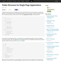 Folder Structure for Single Page Applications