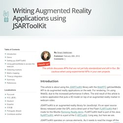 Writing Augmented Reality Applications using JSARToolKit