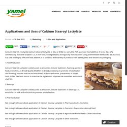Applications and Uses of Calcium Stearoyl Lactylate