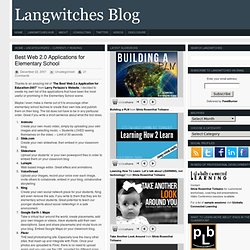 Best Web 2.0 Applications for Elementary School | Langwitches