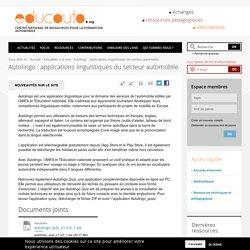 Autolingo : applications linguistiques du secteur automobile