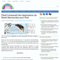 [Test] Comparatif des Applications de Notes Manuscrites pour iPad