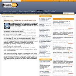Les applications CRM en tête du marché des logiciels