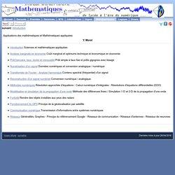 Applications des mathématiques et Mathématiques appliquées