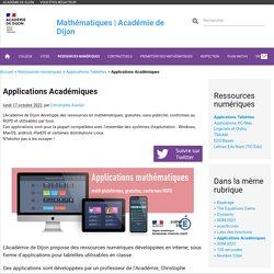 Applications Académiques - Mathématiques