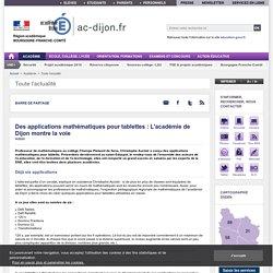 Des applications mathématiques pour tablettes : L'académie de Dijon montre la voie