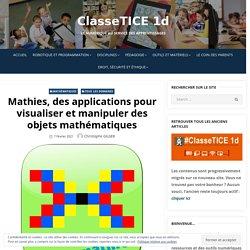 Mathies, des applications pour visualiser et manipuler des objets mathématiques