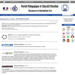 Applications en ligne : MATHÉMATIQUES - Ressources et informations TICE