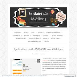 Applications maths CM1/CM2 avec GlideApps