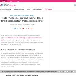 Étude : l'usage des applications mobiles en forte hausse, surtout grâce aux messageries