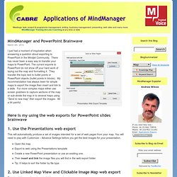 Applications of MindManager - A range of ways to use MindManager for business and pleasure
