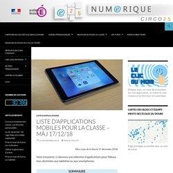 Liste d'applications mobiles pour la classe – màj 17/12/18