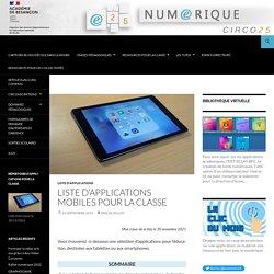 Liste d'applications mobiles pour la classe – màj 15/11/19