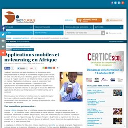 Applications mobiles et m-learning en Afrique