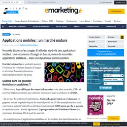 Applications mobiles : un marché mature