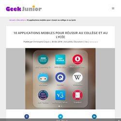 10 applications mobiles pour réussir au lycée