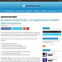 [Compte rendu] Etude : Les applications mobiles dans le tourisme